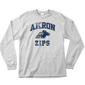Akron Zips Vintage Logo Long Sleeve Tee NWT S